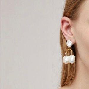 Celine Crystal and 3 pearls piercing earrings